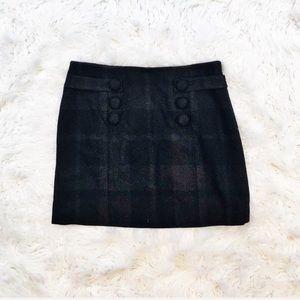 J. Crew wool plaid mini skirt